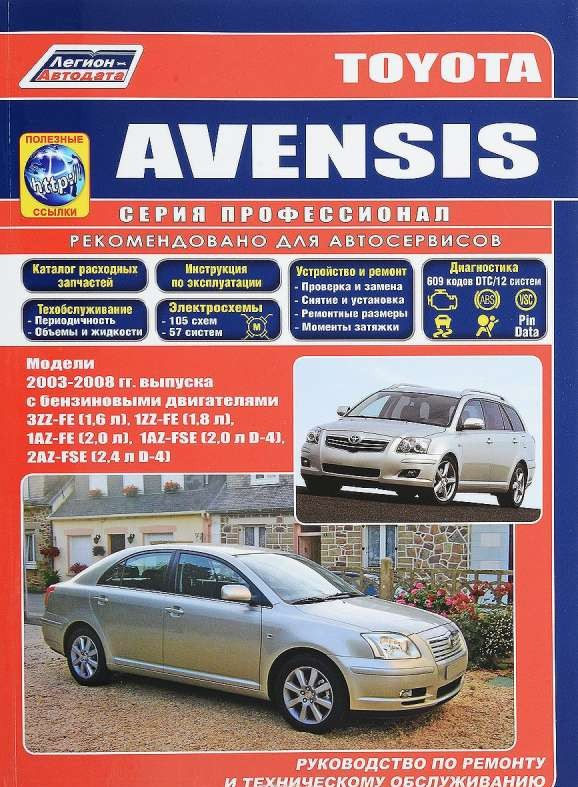 TOYOTA Avensis (2003-2008) бензин