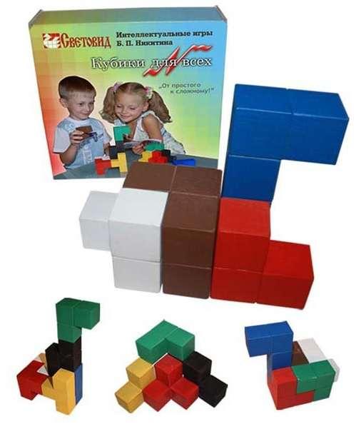 Кубики для всех. Интеллектуальные игры Никитина