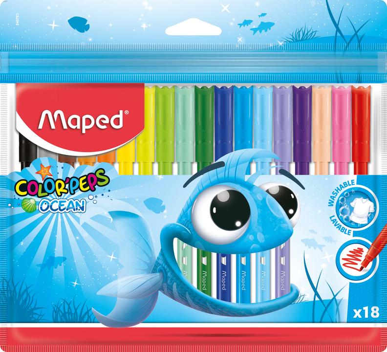 Фломастеры MAPED Ocean 18  цветов