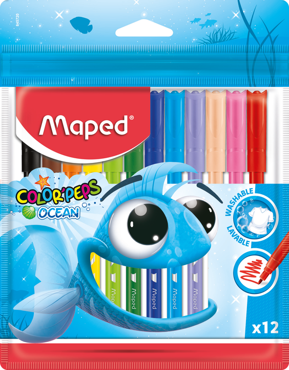 Фломастеры MAPED Ocean 12  цветов
