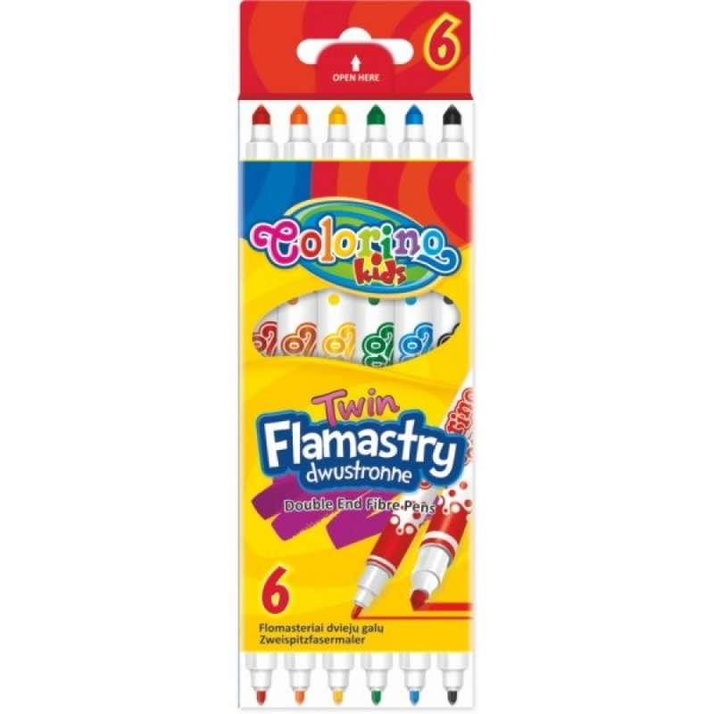 Фломастеры Patio Coloring  6 цветов  (двухсторонние)
