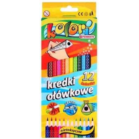 Цветные карандаши Penmate треугольные, 12 цветов