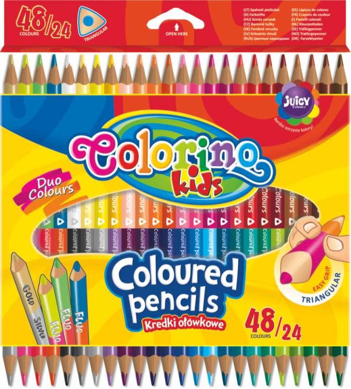 Цветные карандаши Colorino, двухсторонние, 24=48  цветов
