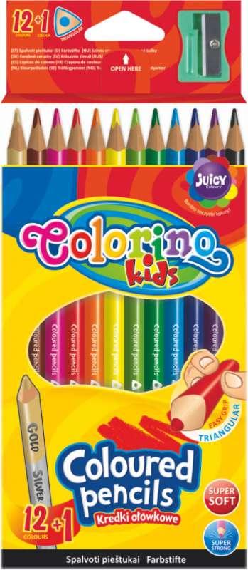 Цветные карандаши Colorino Kids, 12+1  цветов