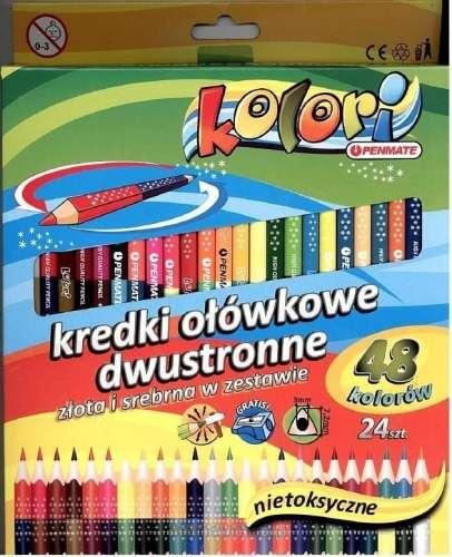 Цветные карандаши Penmate, двухсторонние, треугольные, 24=48 цветов