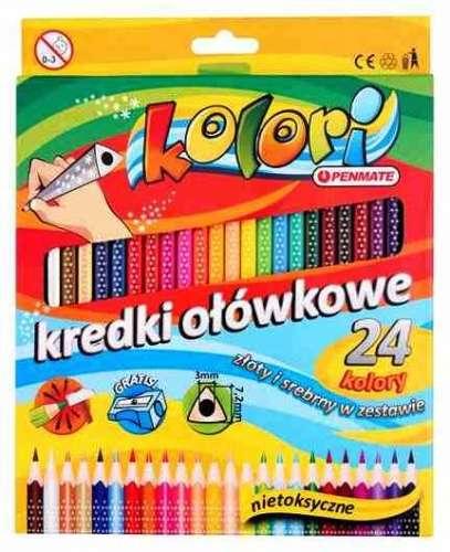 Цветные карандаши Penmate треугольные, 24 цветов