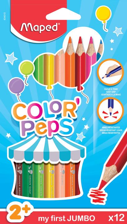 Цветные карандаши MAPED Color Peps MAXI, 12  цветов