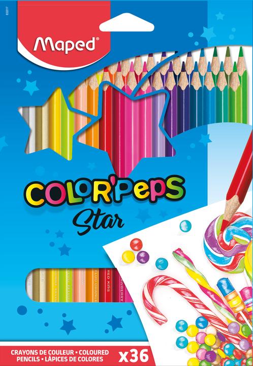 Цветные карандаши MAPED Color Peps, 36 цветов