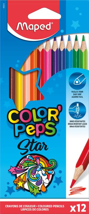 Цветные карандаши MAPED Color'Peps, 12 цветов