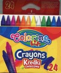 Восковые мелки Coloring 24 цвета