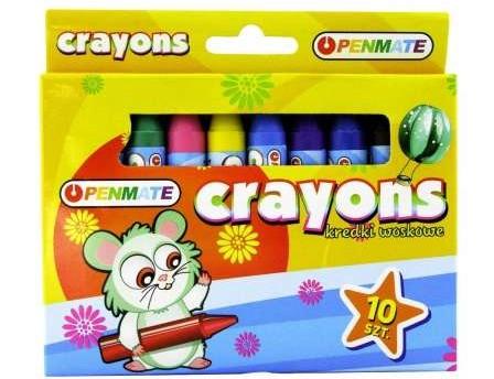 Восковые мелки Penmate 10 цветов