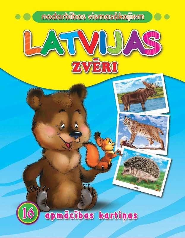 Latvijas zvēri. 16 apmācības kartiņas