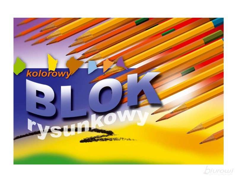 Цветная бумага Kreska А4, 16 листов