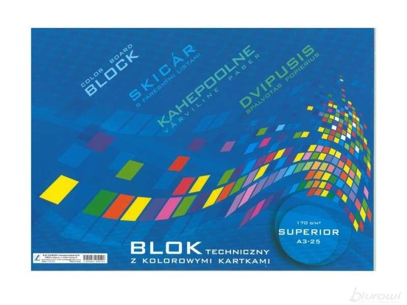 Цветной картон Kreska A3, 25 листов