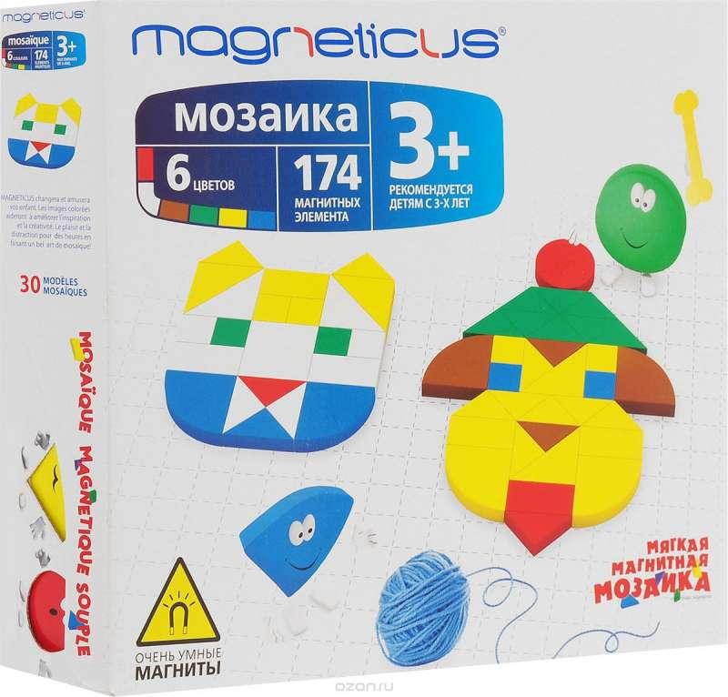 Мозаика 3+, 174 элемента  6 цветов  30 этюдов