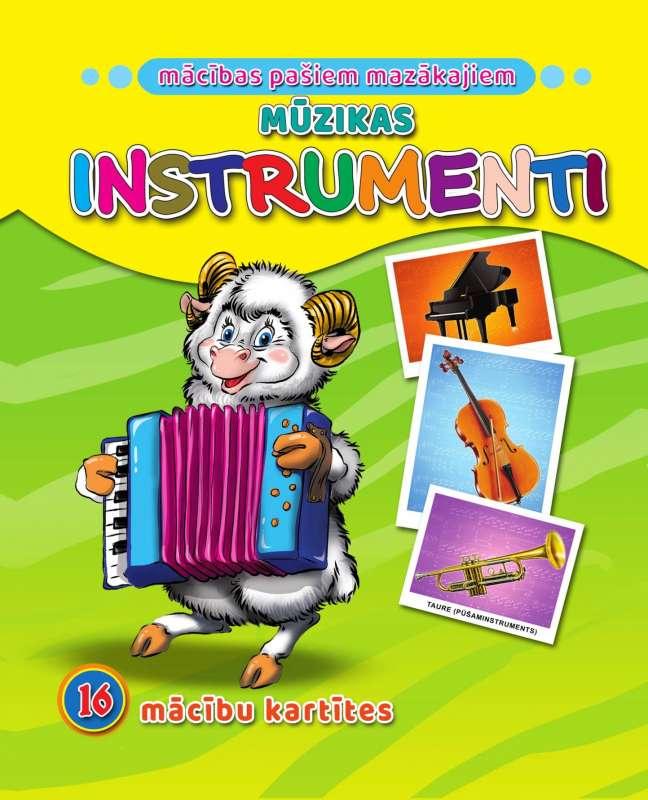 Mūzikas instrumenti. 16 apmācības kartiņas