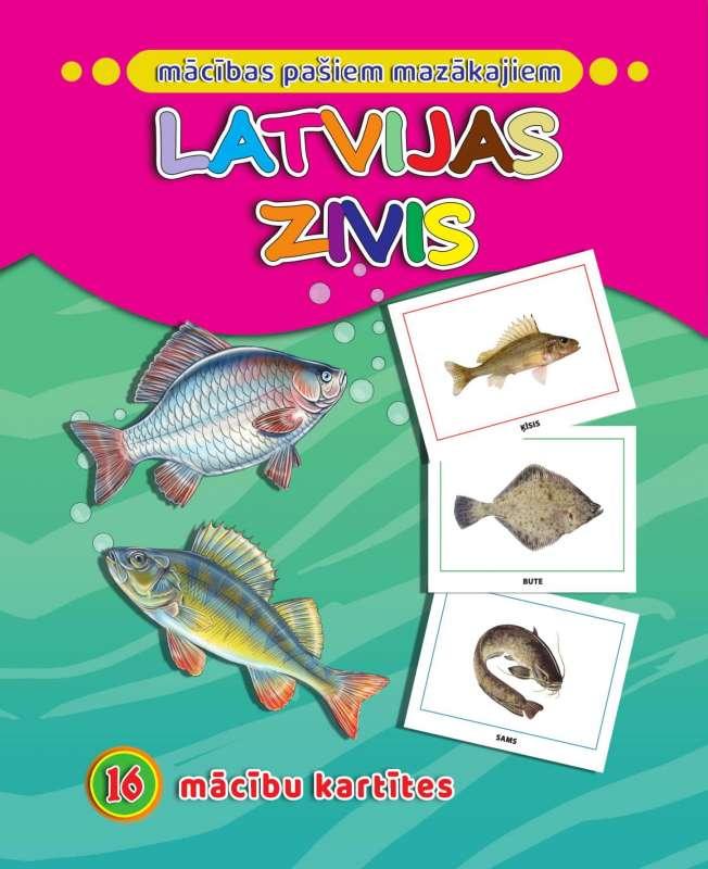 Latvijas zivis. 16 apmācības kartiņas