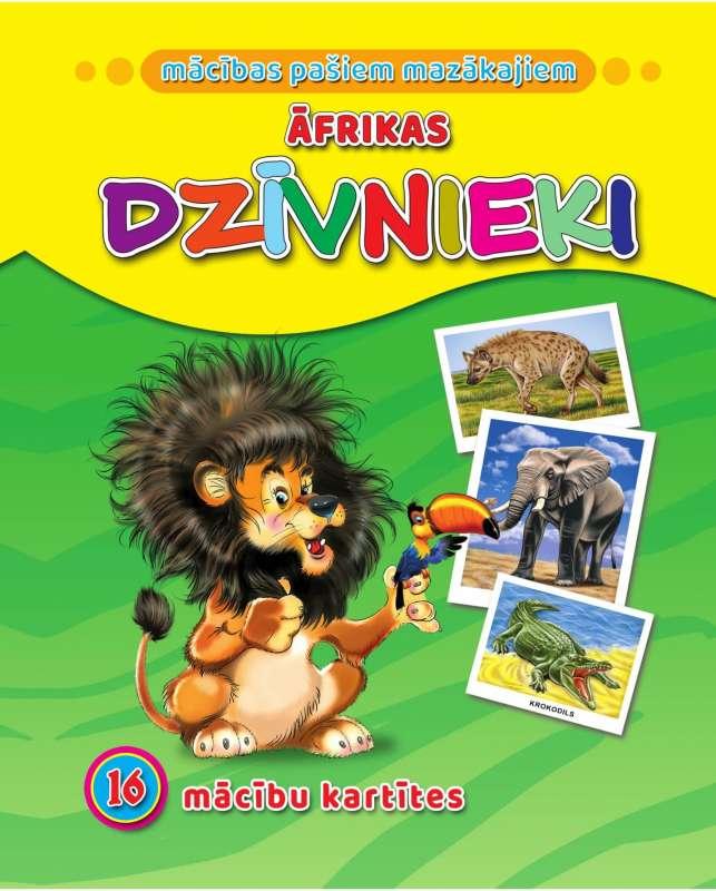 Āfrikas dzīvnieki. 16 apmācības kartiņas