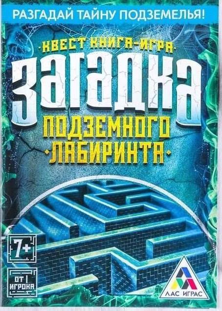 Книга-игра поисковый квест Загадка подземного лабиринта