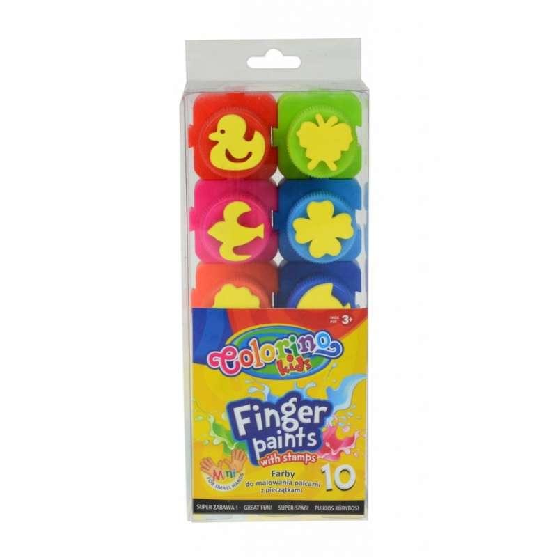 Colorino Краски пальчиковые 10 цветов