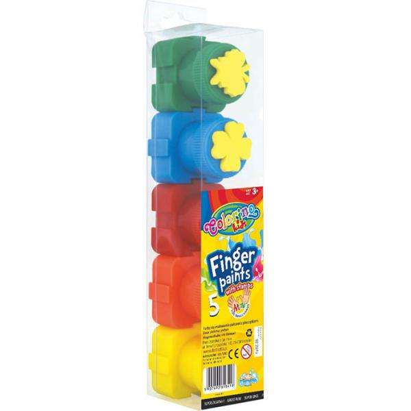 Colorino Краски пальчиковые 5 цветов