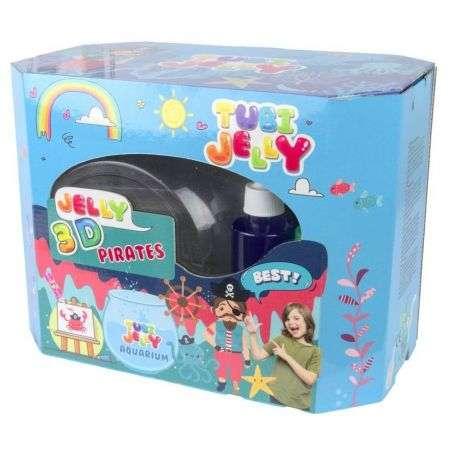 Tubi Jelly komplekts ar 8 krāsām un lielo akvāriju - Pirāti