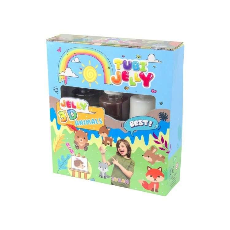 Tubi Jelly komplekts ar 3 krāsām - Dzīvnieki
