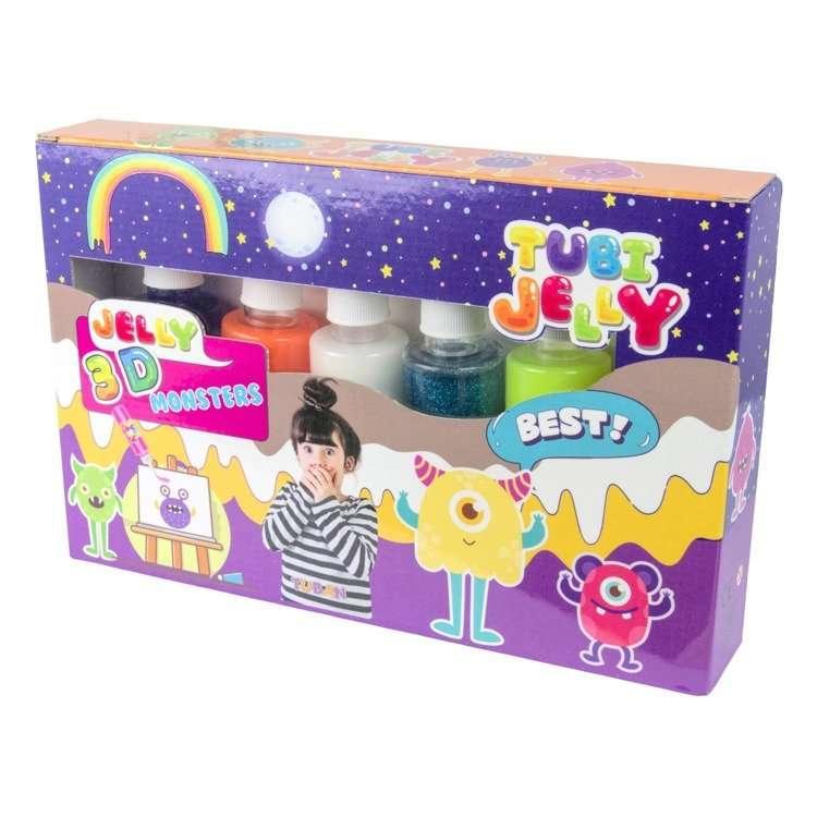 Tubi Jelly komplekts ar 6 krāsām - Monstriņi
