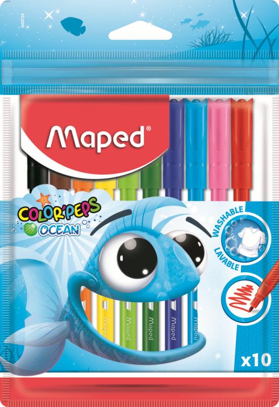 Фломастеры MAPED ColorPeps Ocean 10 цветов
