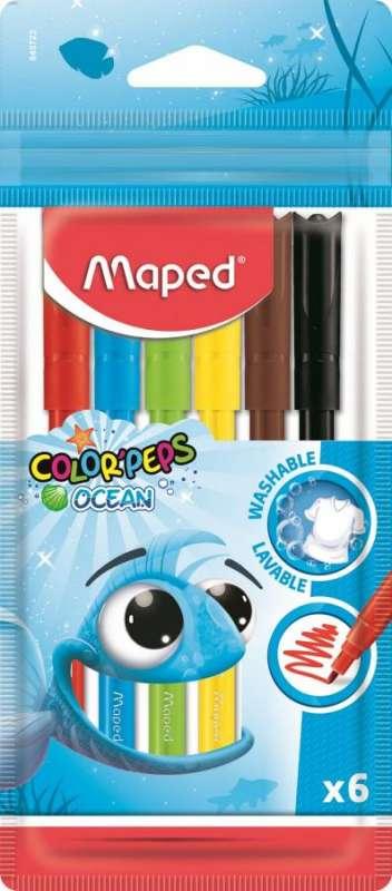 Фломастеры MAPED ColorPeps Ocean 6 цветов