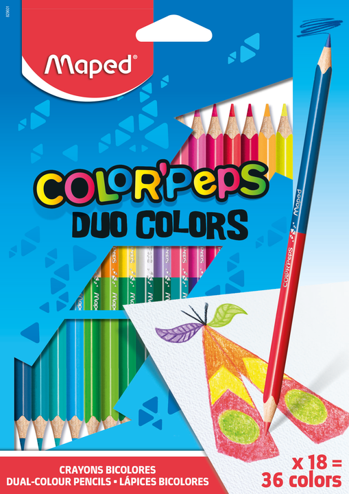 Цветные карандаши MAPED ColorPeps DUO 18 штуки