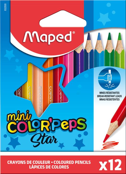 Цветные карандаши MAPED ColorPeps Mini 12 цветов