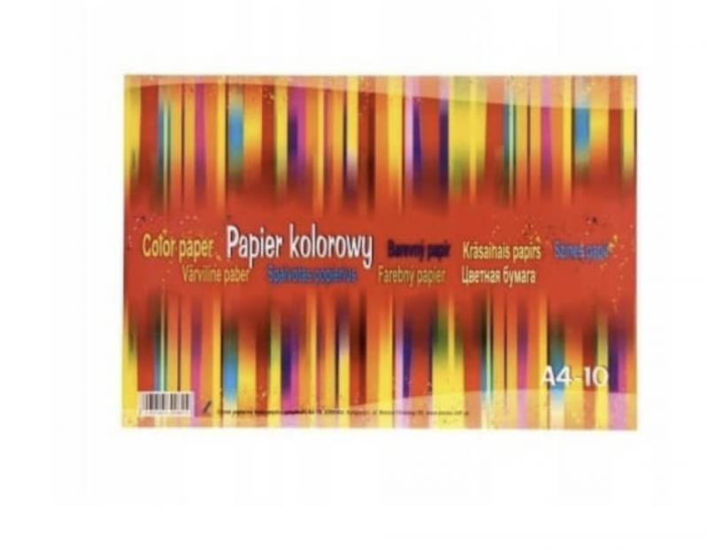 Цветная бумага А4, 32 листа