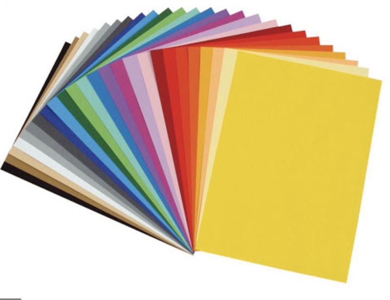 Цветная бумага А5, 30 листов