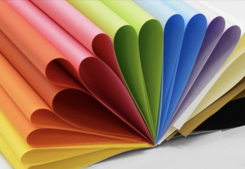 Двусторонний цветной картон, 20 листов