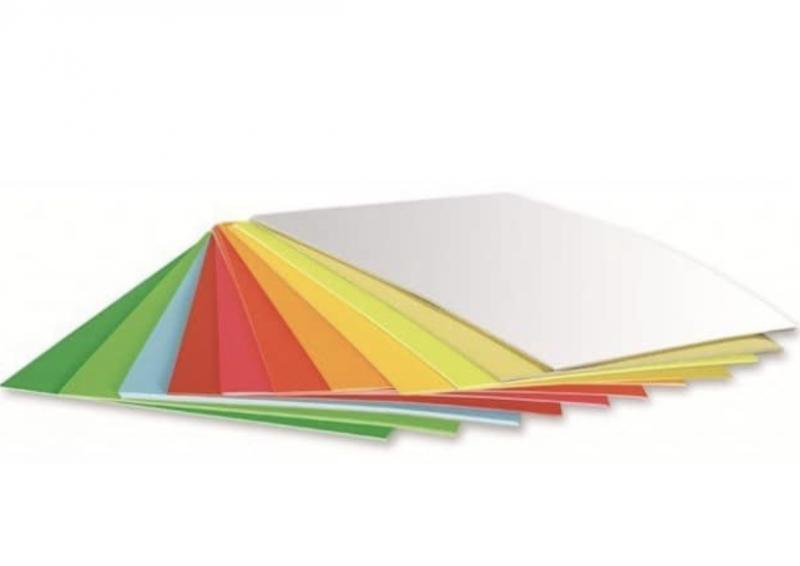 Клейкая цветная бумага А4, 1 лист