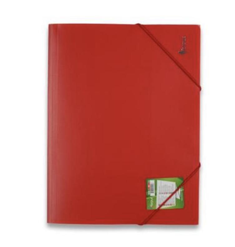 Папка с резинкой FORPUS A4 красная