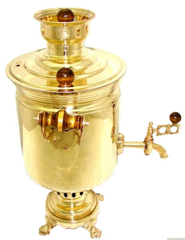 Самовар жаровой с трубой. 5 литров