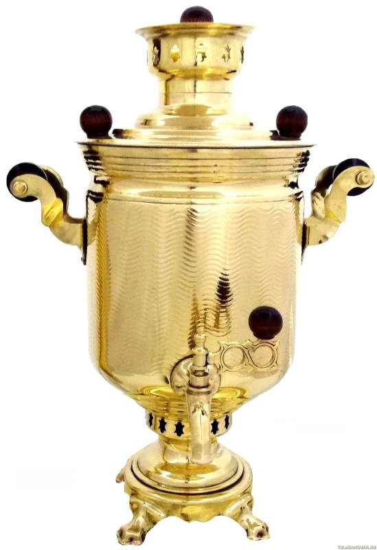 Самовар жаровой трубой. 5 литров