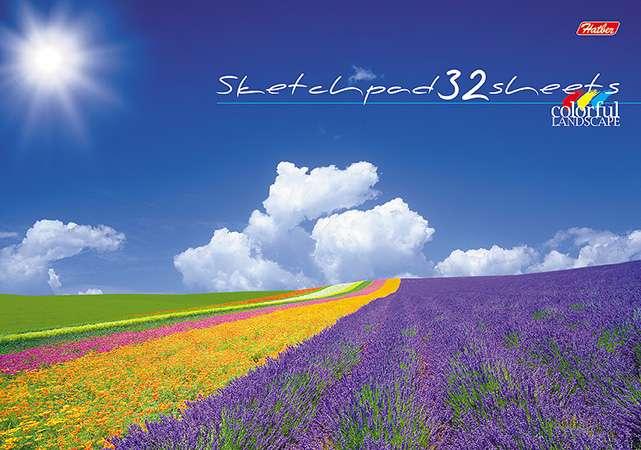 Альбом для рисования 32л - Цветущие долины