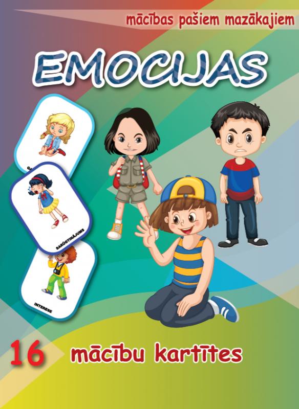 Mācību kartītes – EMOCIJAS ( LV )