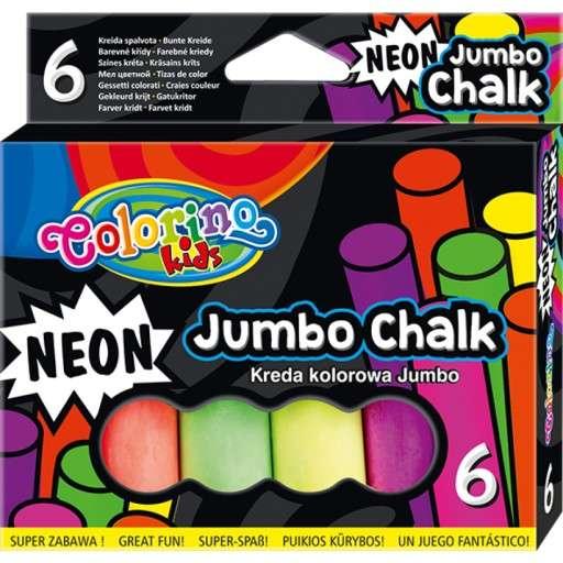 Мелки разноцветные JUMBO, 6 цветов COLORINO NEON