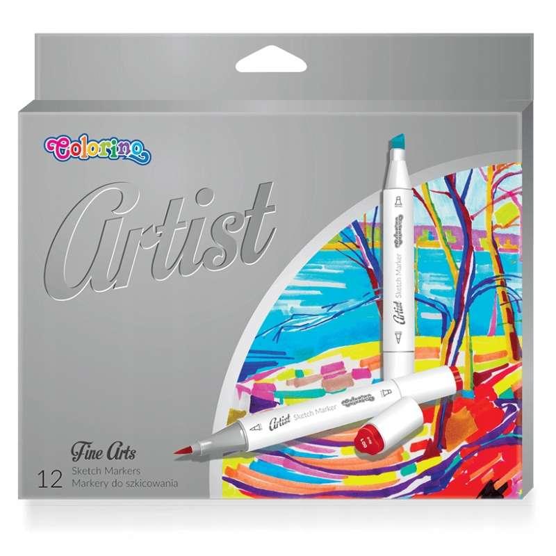 Маркеры COLORINO для рисования ,12 цветов