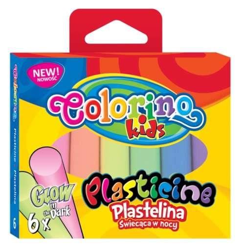 Пластилин светящийся в темноте, 6 цветов Colorino