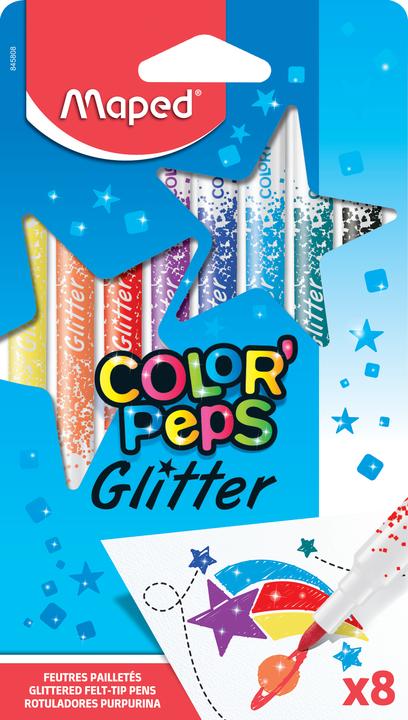 Фломастеры MAPED Color'peps Glitter
