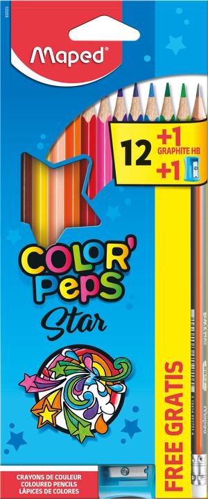 Цветные карандаши MAPED ColorPeps 12 штук + 1 Vivo +1 ТМ