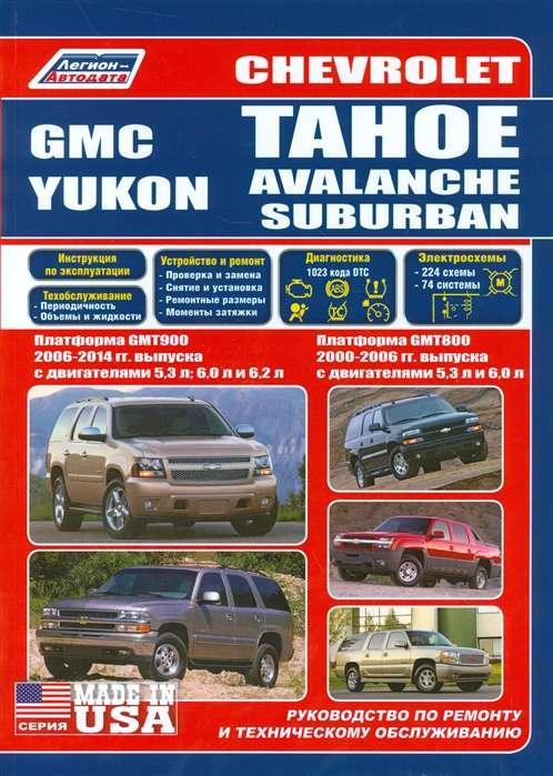 CHEVROLET Tahoe/Avalanche/Suburban (2000-2006 и далее) бензин, GMC Yukon