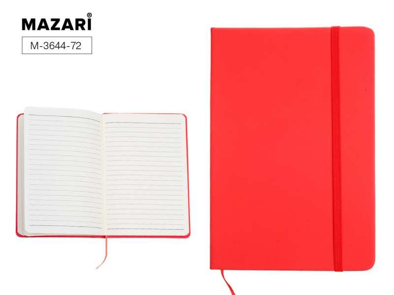 Biznesa piezīmju grāmatiņa MEDIO, RED, 72 l, A5