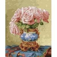 Картина по номерам - БУЗИН. ВОСТОЧНЫЕ РОЗЫ  (28 цветов)