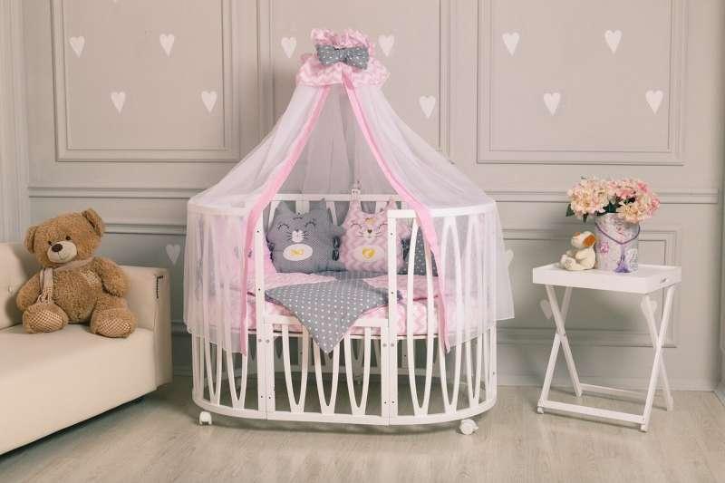 Комплект постельного белья 10 предметный «Котята» (розовый)